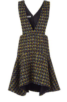 DELPOZO Tweed Pinafore Dress