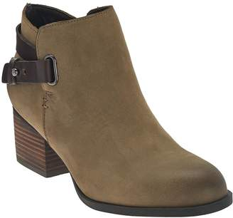 Sole Society Leather Ankle Boots w/ Strap Detail - Angie