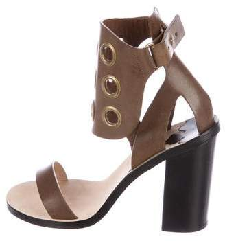 By Malene Birger Leather Grommet Sandals
