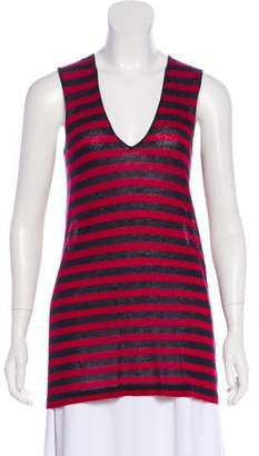 Jenni Kayne V-Neck Striped Top w/ Tags