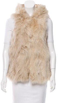 Boy. by Band of Outsiders Fox Fur Hooded Vest $350 thestylecure.com