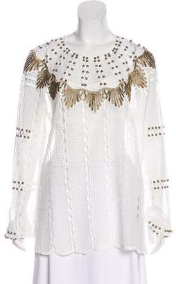 Kobi Halperin Embellished Tunic Top