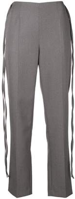 MM6 MAISON MARGIELA side ribbon tailored trousers