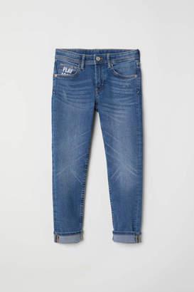 H&M Skinny Fit Jeans - Denim blue/Play Again - Kids