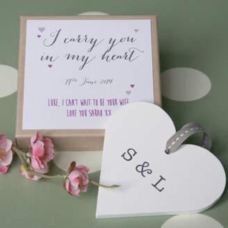 Modo creative Personalised Bride/Groom Wedding Heart