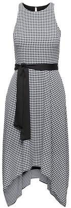Banana Republic Gingham Racer-Neck Fit-and-Flare Dress