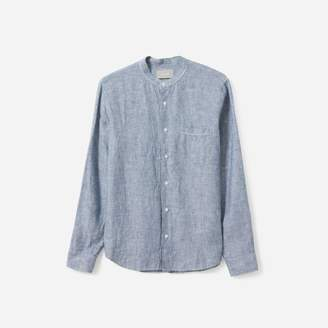 Everlane The Linen Band Collar Shirt