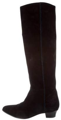 CNC Costume National Pointed-Toe Over-The-Knee Boots