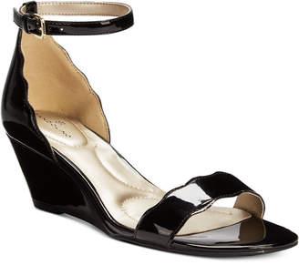 Bandolino Opali Scalloped Wedge Sandals $59 thestylecure.com