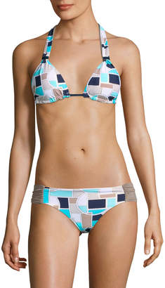 Trina Turk Women's Disco Deco Tri Slide Bikini Top