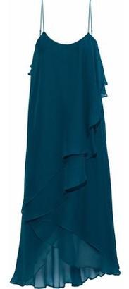 Haute Hippie Layered Ruffled Silk-Georgette Dress