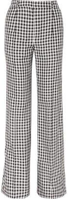 Sonia Rykiel Gingham Twill Wide-leg Pants - Black