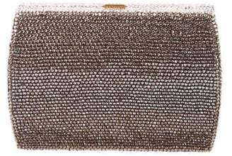 Judith Leiber Crystal Embellished Minaudiére Clutch