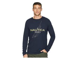 Nautica Long Sleeve J Class Outline Crew T-Shirt