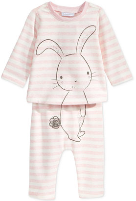 First Impressions 2-Pc. Bunny T-Shirt & Pants Set, Baby Girls (0-24 months), Only at Macy's $24.50 thestylecure.com