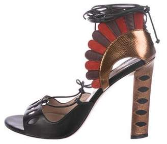 Paula Cademartori Lotus Leather Sandals
