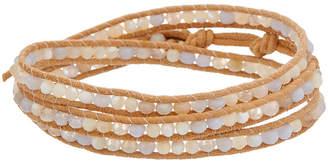 Chan Luu Silver Gemstone & Mother-Of-Pearl Leather Wrap Bracelet