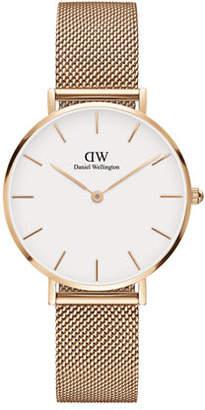 Daniel Wellington 32mm Classic Petite Melrose Bracelet Watch w/White Dial