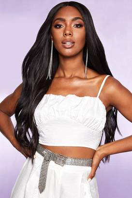 boohoo Pearlised Ruched Crop Top