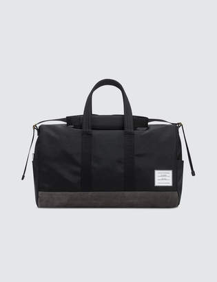 Thom Browne Unstructured Holdall In Nylon Plain Weave + Suede