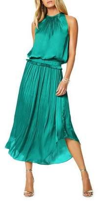 Ramy Brook Myrtle Sleeveless Pleated Midi Dress