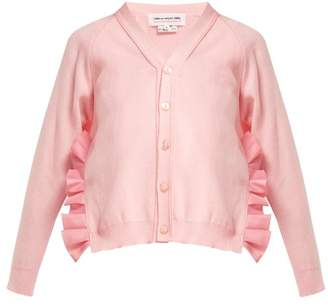Comme des Garcons Ruffle Trim Side Slit Cardigan - Womens - Pink