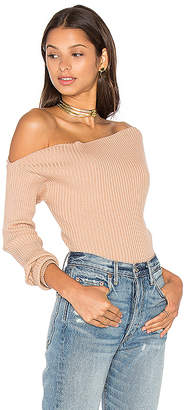 MAJORELLE Twister Sweater in Tan $148 thestylecure.com