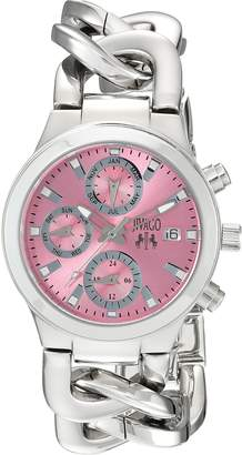 Jivago Women's Dress Levley Collection Pink Dial Classic Analog Watch with Enamel Bezel (Model:JV1245)
