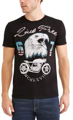 Americana Big Men's Live Free 67 Moto Eagle Graphic T-Shirt, 2XL