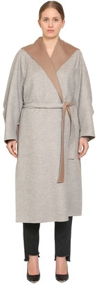 Marina Rinaldi Tropea Hooded Wool & Angora Coat