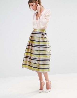 Oasis Premium Stripe Prom Skirt $105 thestylecure.com