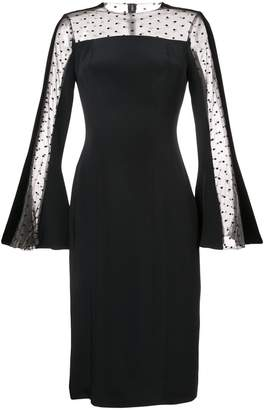Monique Lhuillier tulle panel midi dress