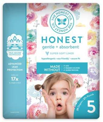 The Honest Company Honest 20-Pack Size 5 Diapers in Rose Blossom Pattern