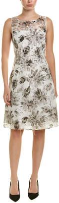 Adrianna Papell Linen-Blend A-Line Dress