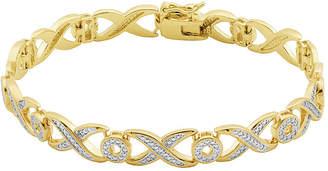 Xo SPARKLE ALLURE Classic Treasures Diamond-Accent X/O 18K Two-Tone Gold Over Brass Bracelet