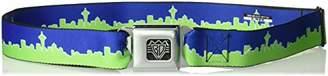 Buckle-Down Unisex-Adults Seatbelt Belt Seattle XL Skyline Navy/Gray/Green