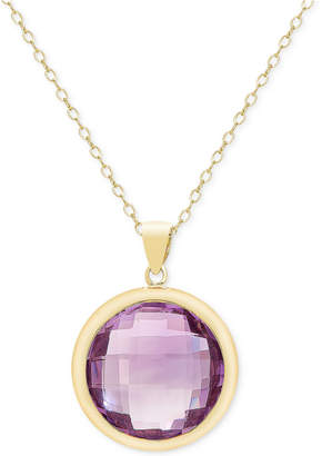 Townsend Victoria Amethyst Bezel Pendant Necklace (16-1/2 ct. t.w.) in 18k Gold over Sterling Silver