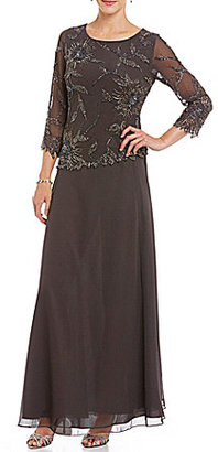 Jkara Floral Beaded Bodice Gown $238 thestylecure.com