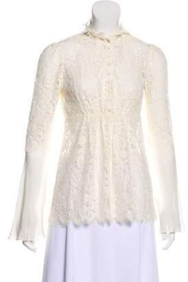 Rachel Zoe Long Sleeve Lace Top