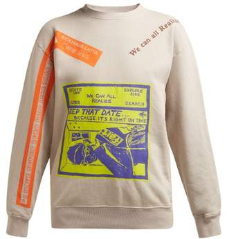Eckhaus Latta X Come Tees Cotton Sweatshirt - Womens - Grey Multi