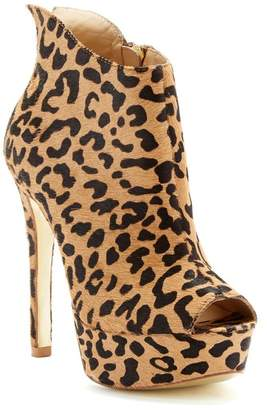 23af9bc23087 Kristin Cavallari by Chinese Laundry Lovely Leopard Print Calf Hair Open  Toe Bootie