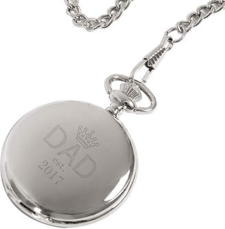 Asstd National Brand Personalized Fathers Day Silver-Plated Pocket Watch
