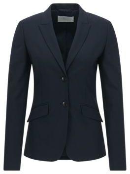 Hugo Boss Julea Wool Jacket 0 Open Blue $595 thestylecure.com