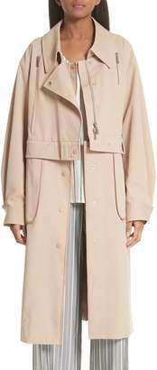 Jason Wu GREY Sailor Stretch Twill Convertible Trench Coat