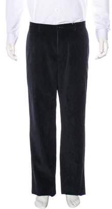 Armani Collezioni Corduroy Straight-Leg Pants