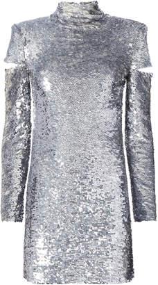 Helmut Lang Cold Shoulder Disco Sequin Dress