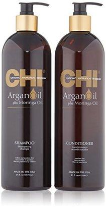 CHI Argan Oil Shampoo 25oz & Argan Oil Conditioner 25oz Kit(Pack of 2) $39.99 thestylecure.com