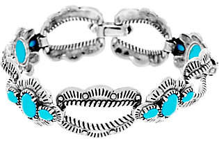 American West Sterling Silver Sleeping Beauty Turquoise Bracelet by American West