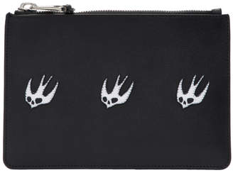 McQ Black Swallow Passport Pouch
