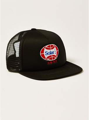Topman Mens Black Solar Trucker Cap